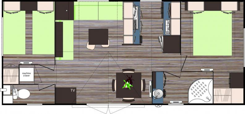 Interieur coffre salon 880 2 chambres